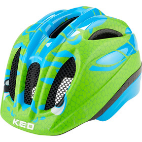 KED Meggy Trend Helm Kinder dino light blue green